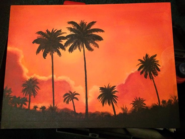 Palms in the sunset :) my painting