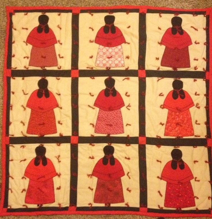 Homemade Native American Doll Throw Quilt 42 X 42 By