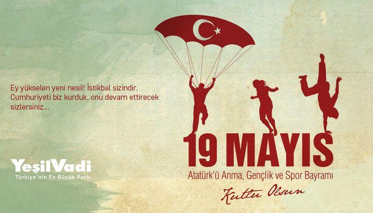19 Mayıs Atatürk'ü Anma Gençlik ve Spor Bayramı Kutlu Olsun. #19Mayıs #19MayısAtatürküAnmaGençlikVeSporBayramı