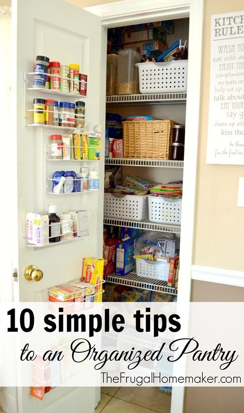 10 simple tips to an Organized Pantry