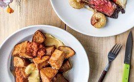 Fried Potatoes with Tomato-Chipotle Sauce and Aïoli