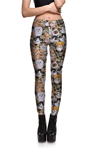 c47a6cab16d Hoyou Funky Print Leggings for Women Galaxy Floral Tribal Sexy Smooth Crazy  Patterned Pants Slimming Girls