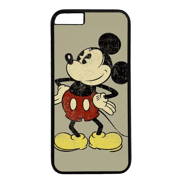 Vintage Mickey Mouse iPhone 6 6s Case PC Material Black ZENI6S1070 - BeGleam