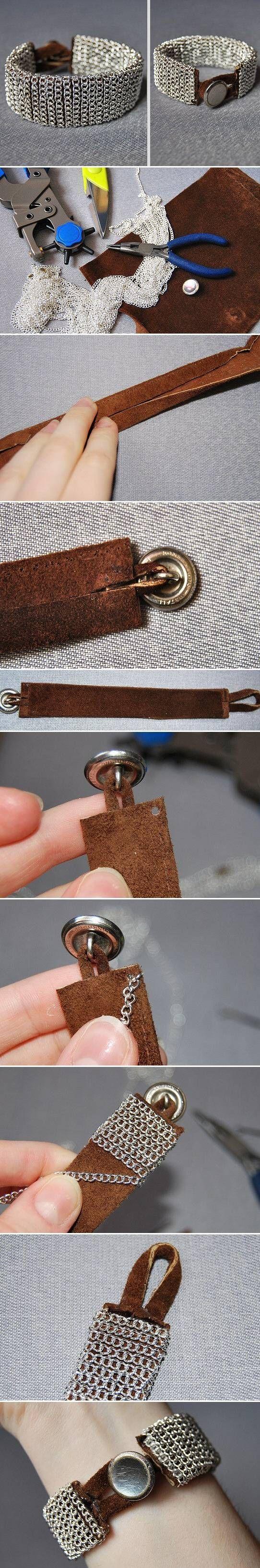 DIY Easy Chain Bracelet diy crafts craft ideas easy crafts diy ideas crafty easy diy diy jewelry diy bracelet craft bracelet diy fashion jewelry diy craft fashion