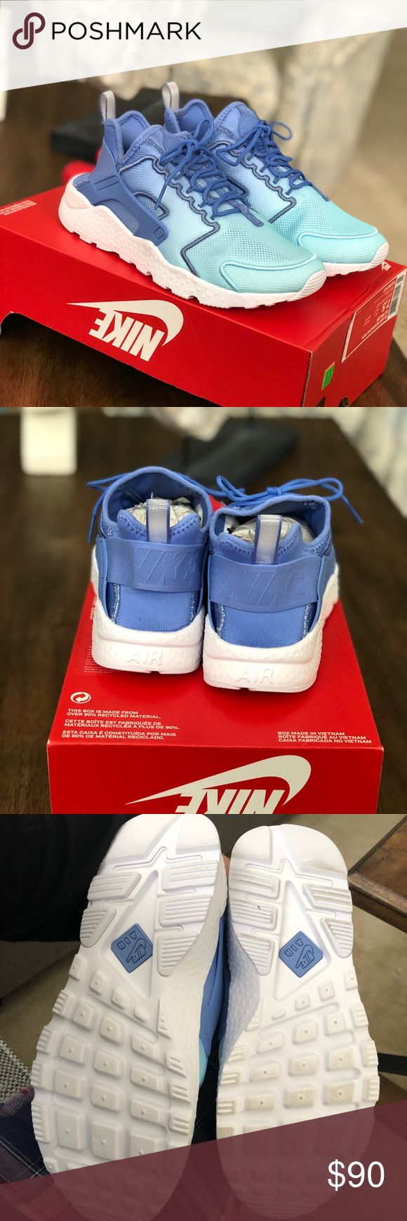 Women's Nike air huarache run ultra Polar white and blue women's Nike huarache run , size 7.5 , brand new never worn with box no lid . Ships same day or next day . Please use offer tab if making and offer :) thanks Nike Shoes Sneakers