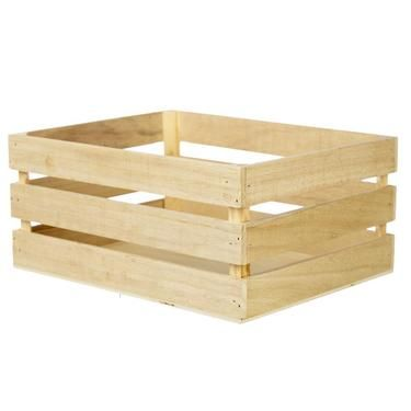 Francheville Wood Crate Storage Box Natural