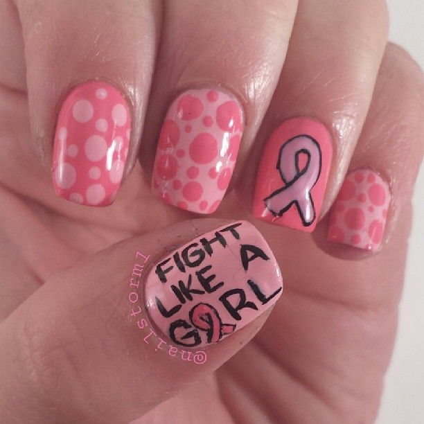 59 Best Nail Art BREAST CANCER AWARENESS Images On