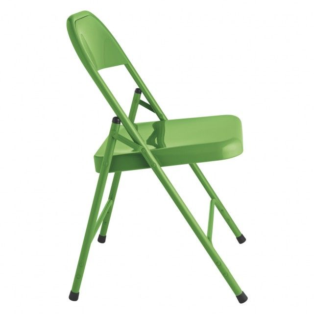 Macadam Green Metal Folding Chair Buy Now At Habitat Uk