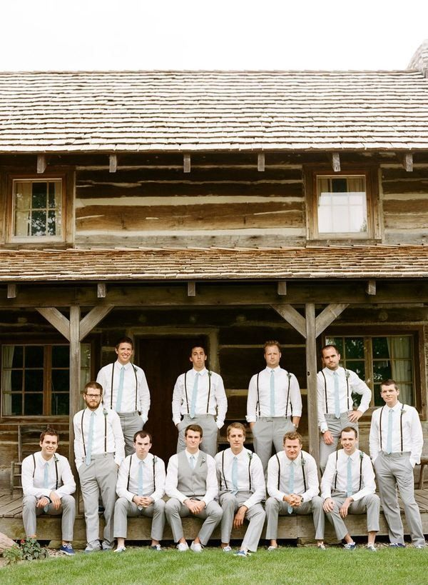 #Suspenders #groomsmen | Photography: Austin Warnock Photography - austinwarnock.com  View entire slideshow: 20 Steal-Worthy Styles for Grooms on http://www.stylemepretty.com/collection/223/