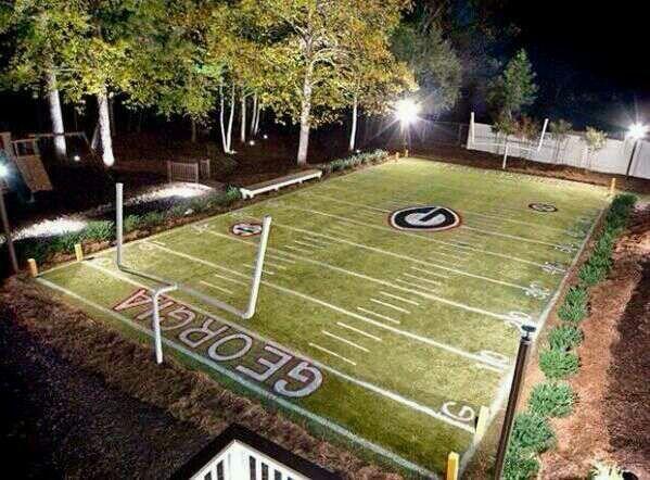 O Lucky Football Field In The Backyard Home Ideas