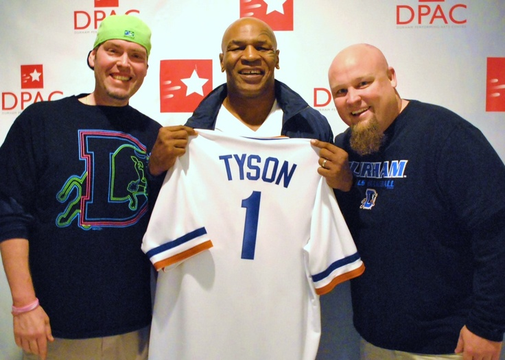 Former Heavyweight Champion Mike Tyson gets his own Durham Bulls jersey in April of 2013.