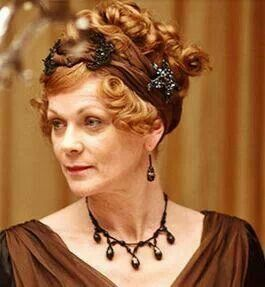 #DowntonAbbey Lady Rosamund Painswick (Samantha Bond) - great hair ornament