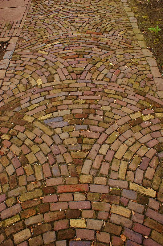 Brick paving patterns