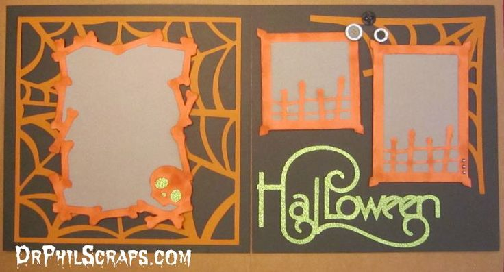 Halloween Scrapbook Layout using CTMH Cricut Artbooking ...
