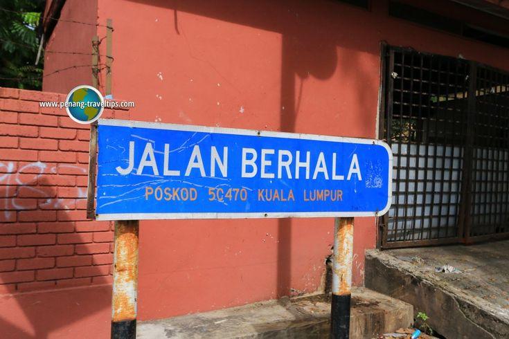 Jalan Berhala road sign
