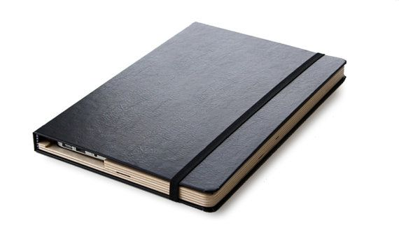 The Cartella for MacBook Air 11 in. (2010-2012) Moleskin Case- Black/Slate. $79.99 at Etsy