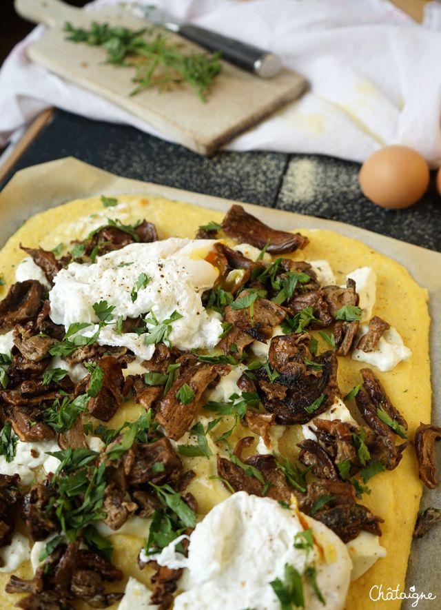 Tarte à la polenta et aux cèpes - Blog de Châtaigne