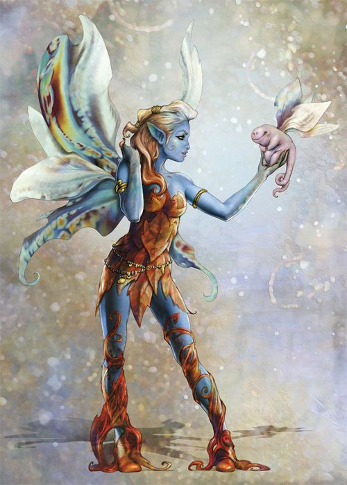 Blue avatar fairy illustrations artworks &other preeettttyyyy fairies!