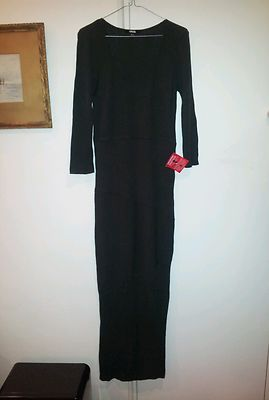 New ASOS Knit Long Dress Women's Olive Green | eBay