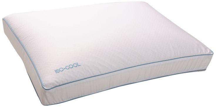 Iso-Cool Memory Foam Pillow, Gusseted Side Sleeper ,Standard