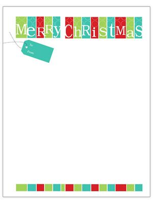 Merry Christmas Tag Letter