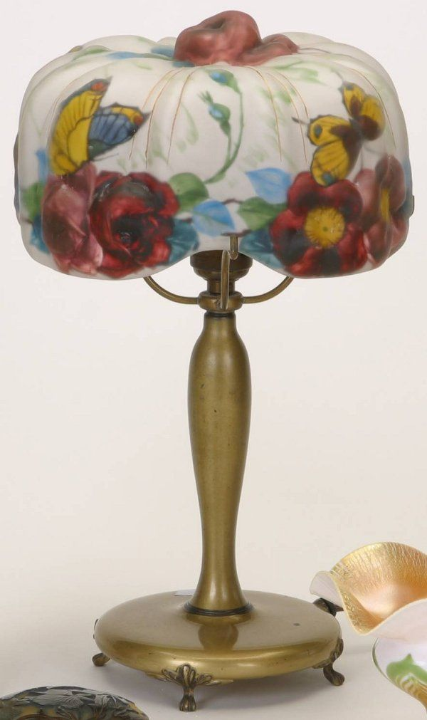pairpoint+lamps | 1072: PAIRPOINT PUFFY TABLE LAMP