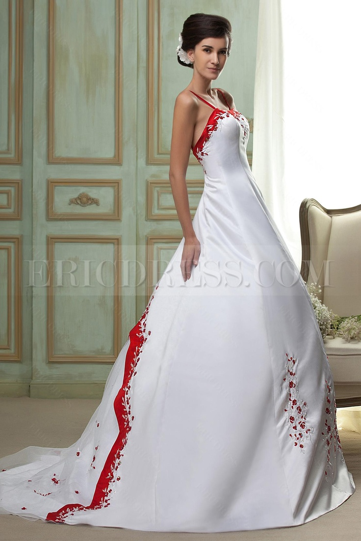 Wedding gown with red accents  Ericdress Color Block Patchwork Short Sleeve Round Neck Casual Dress