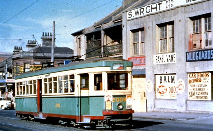Tram in Harris Street 1950s
