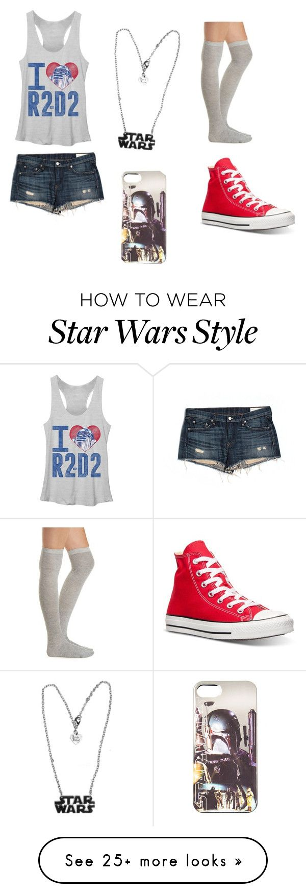"""""""star wars"""" by xx-secret-xx on Polyvore featuring rag & bone/JEAN, Converse and Charlotte Russe"""