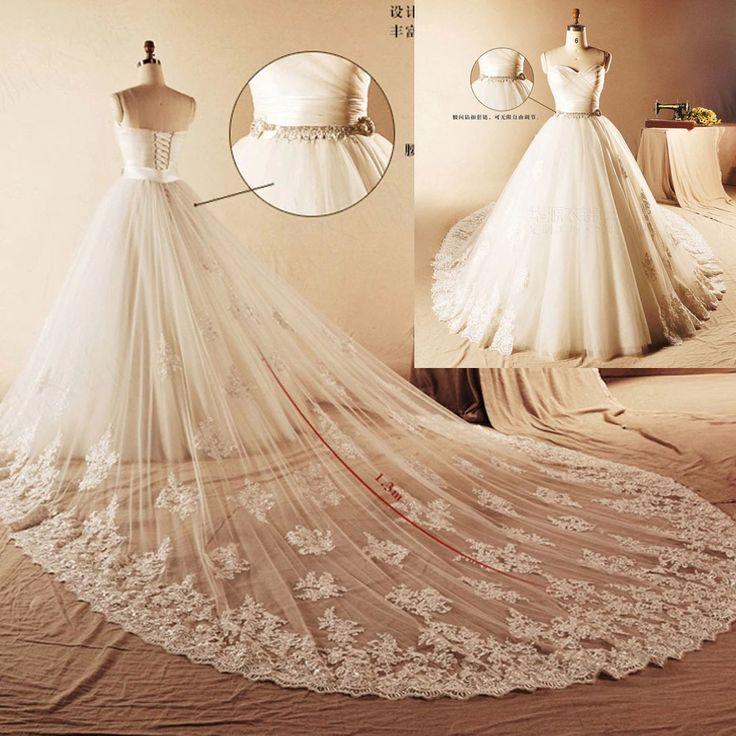 Diy Wedding Gowns: Wedding Dress Detachable Train