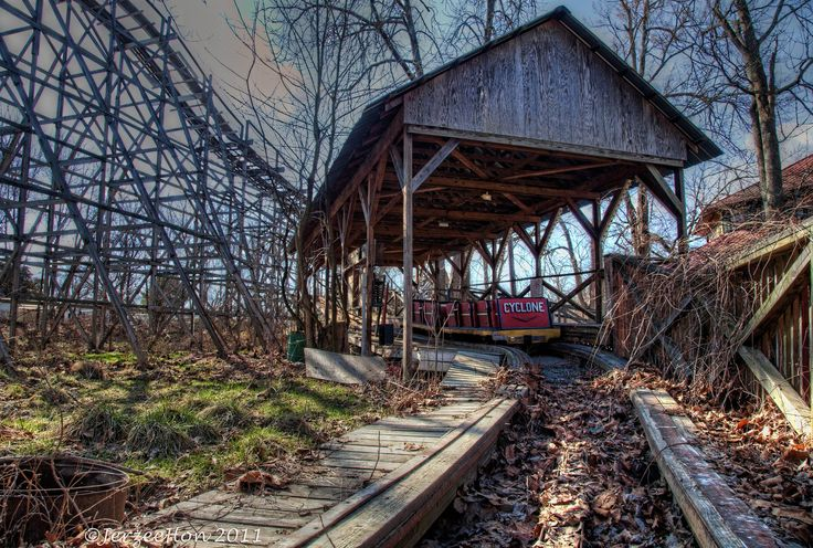 Old wooden roller coaster is not coming out of its final resting place.