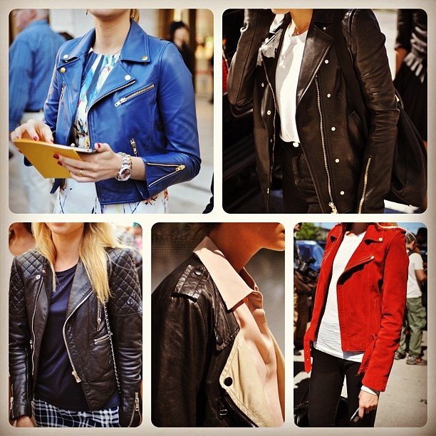 Quilted, studded or suede, the biker jacket is a #NYFW cover star. -