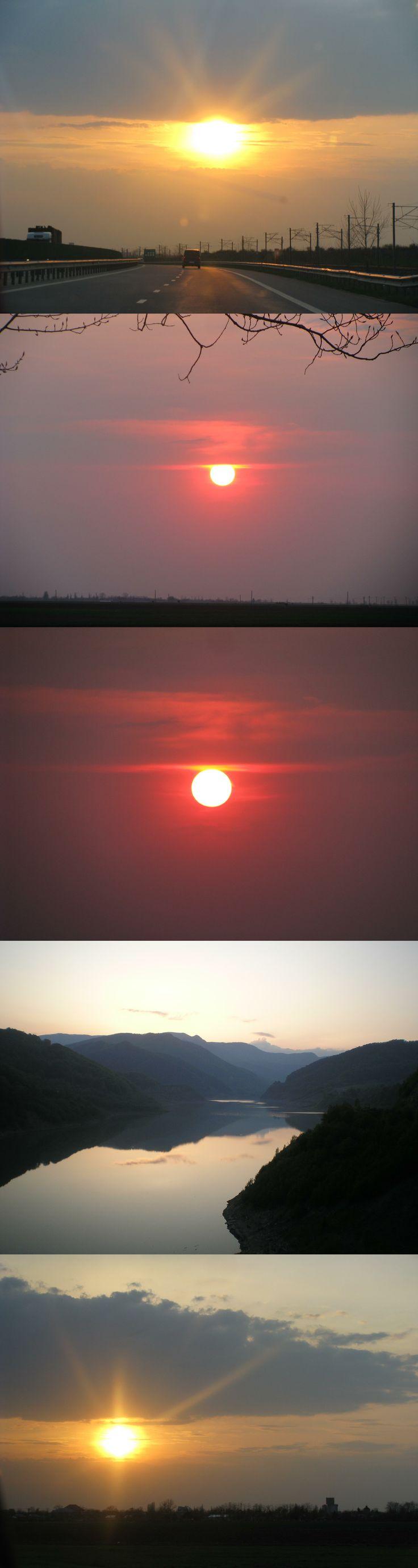 sunset over Romania