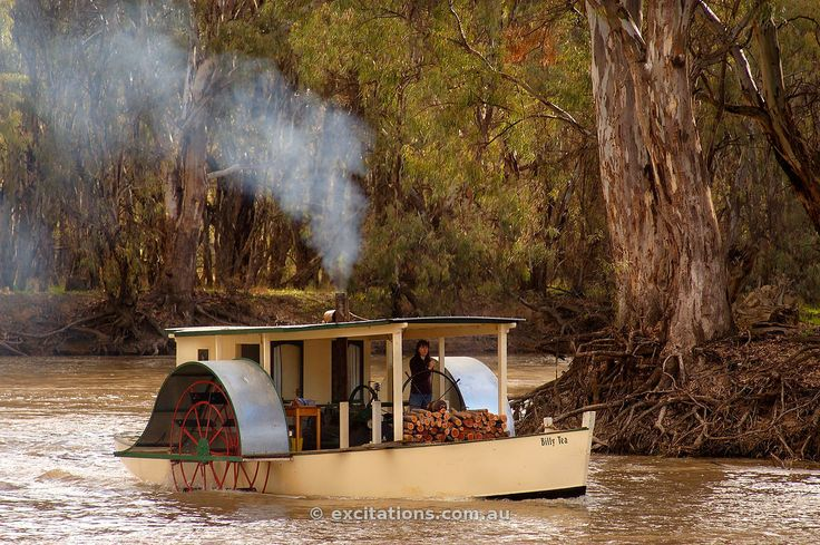Paddle boat on Murray River.