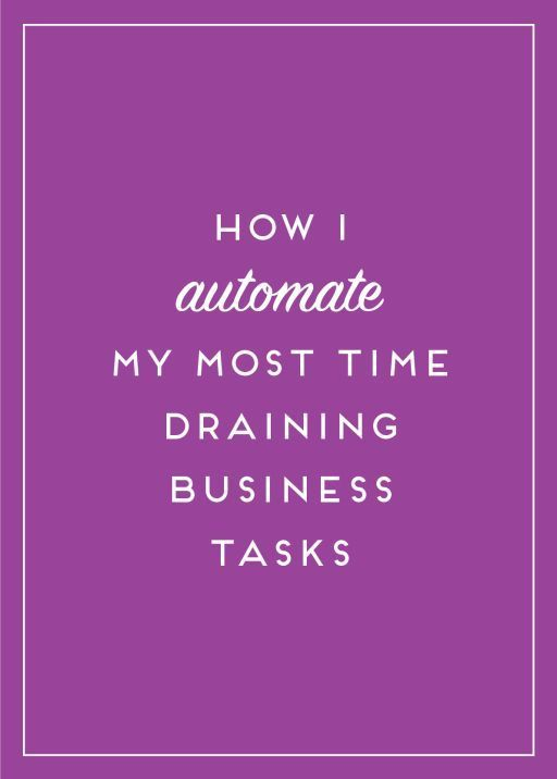 Time management is a key component to running my own business. Here's how I automate the most draining tasks!