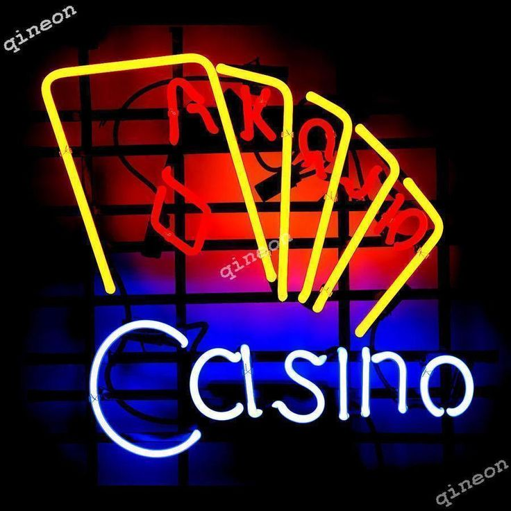 New Casino Cards Game Room Poker Logo Real Neon Sign Beer Bar Light FREE SHIP