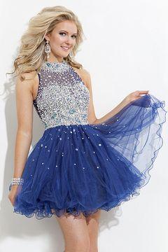 2015 New Style Homecoming Dresses Short/Mini Tulle With Beading High Neck US$ 178.49 PGDPDDM2PTX - PrettyGirlsDresses.com