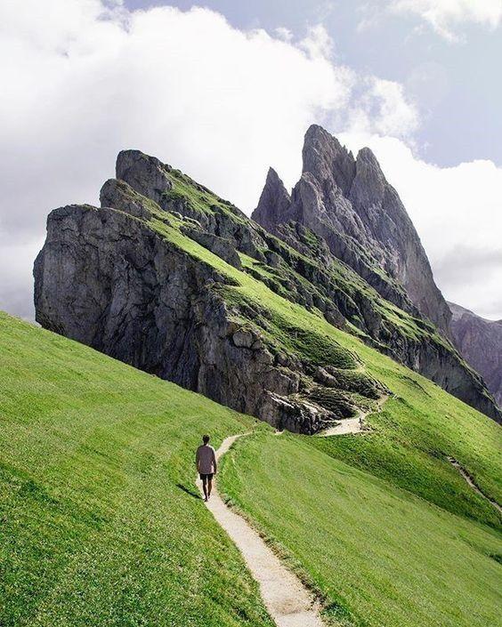 Seceda, Italy mountain top walk