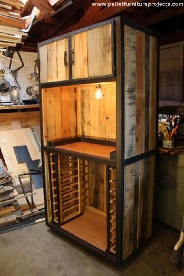 furniture making ideas. pallet storage cabinet closet furniture making ideas