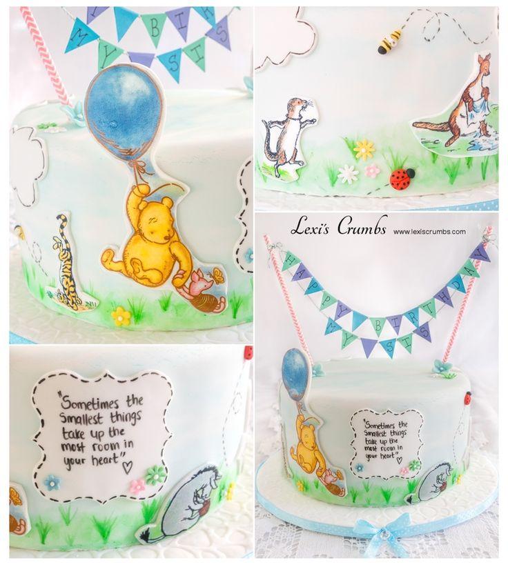 Pooh bear cake www.lexiscrumbs.com