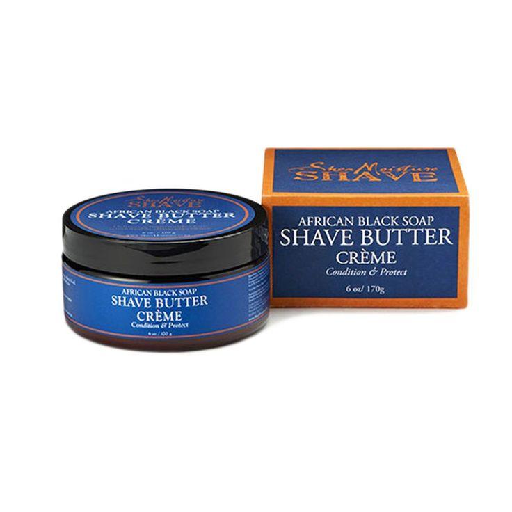 1Pc Shea MoistuRe Shave Men African Black Soap Shave Butter Creme 6Oz #25002