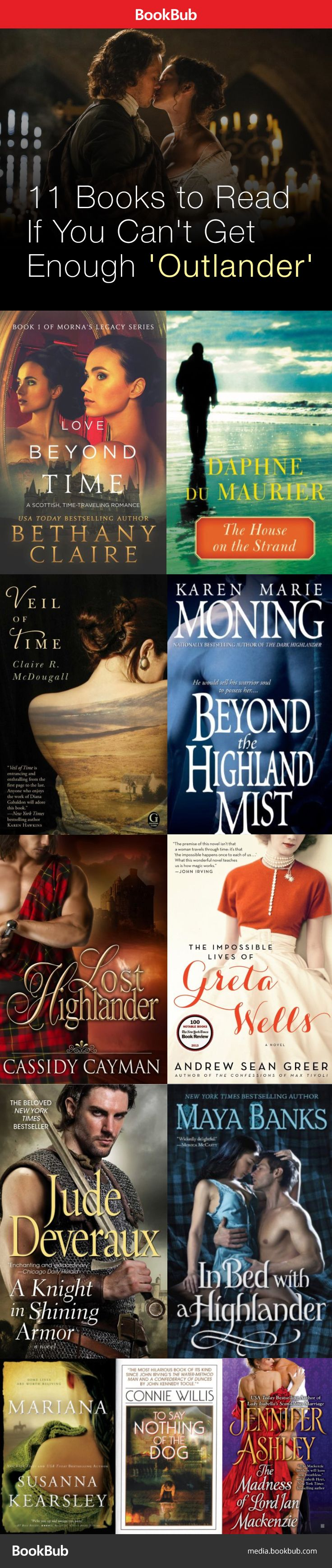 Books for Outlander fans to devour! Featuring time travel, strong heroines, the Scottish highlands, and more