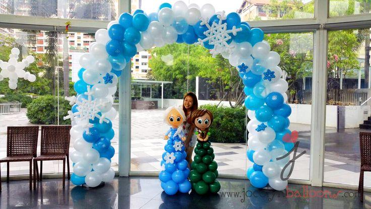 Jocelynballoons Singapore - Balloon Sculpting | Balloon decorations | Balloon workshops: Happy 4th Birthday to Nicole - Frozen theme party