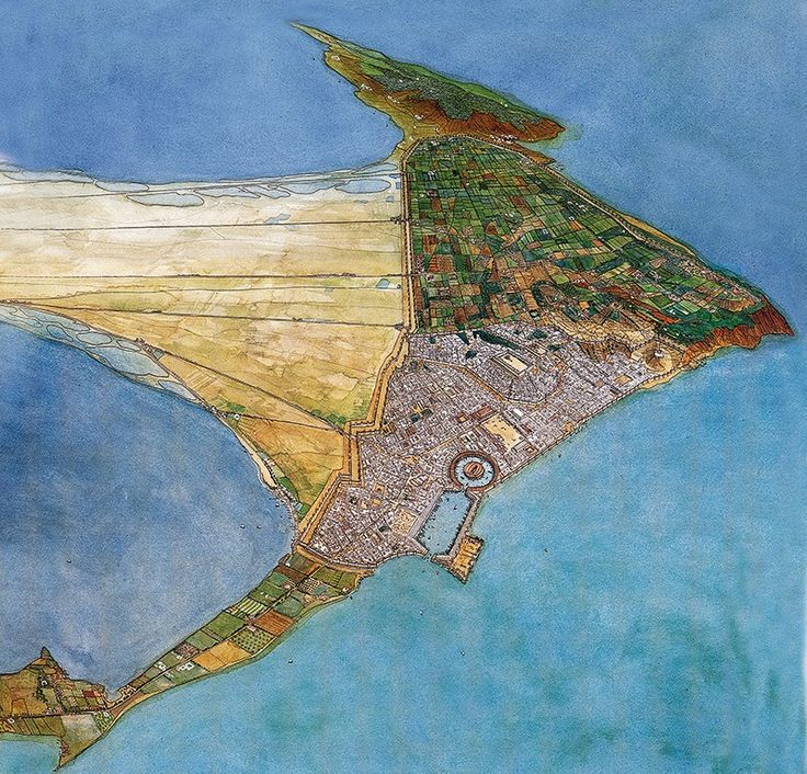 A visual map of Carthage, created by Jean-Claude Golvin.