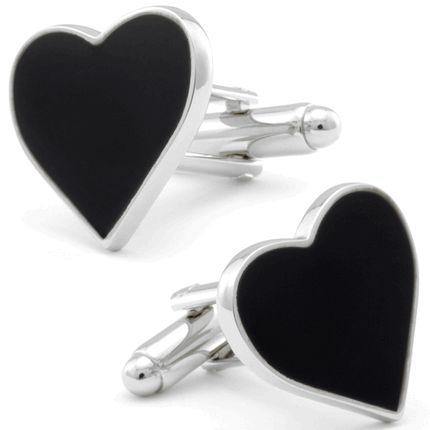Black Heart Cufflinks, Fine Men's Jewelry from Cufflinksman #cufflinks #fashion