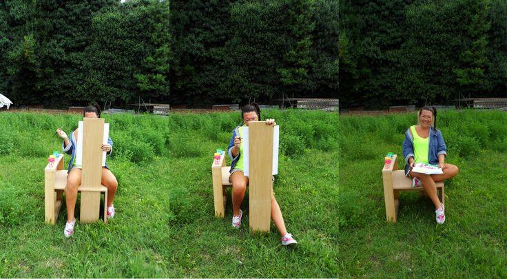 TELA. La sedia del pittore, realizzata per il corso di progettazione all'Istituto Design Palladio