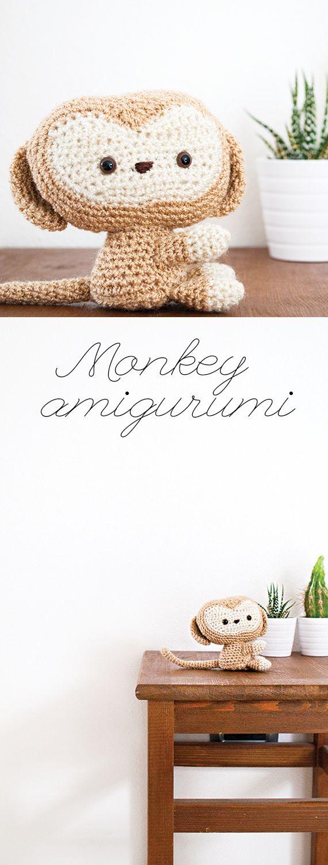 Cute little monkey amigurumi by My Lovely Hook. Pattern by All About Ami. #mylovelyhook #amigurumi #crochet