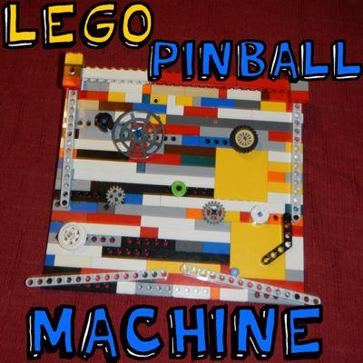 #LEGO Create your own  LEGO pinball machines.  Instructions included for basics--use your imagination to build your own cool #toy.