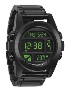 Nixon Unit SS Watch All Black/Green, One Size