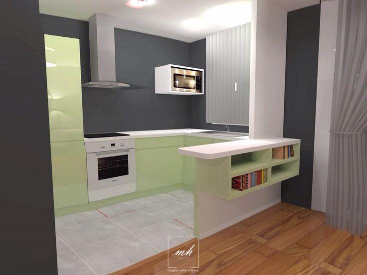 Pour optimiser l 39 espace de cet appartement parisien for Ouverture cuisine sur sejour